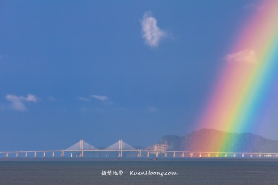 Rainbow over Sultan Abdul Halim Mu'adzam Shah Bridge